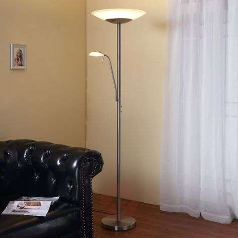 LED-lattiavalaisin Ragna lukuvalolla,matta nikkeli