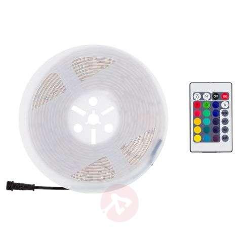 LED-nauha Outdoor, värin vaihto, 5m, kaukosäädin