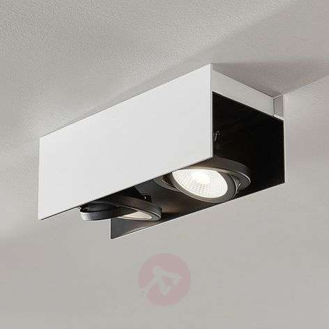LED Olinka, musta-valkoinen, 2-lamppuinen