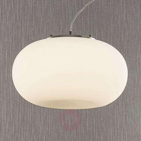 LED-opaalilasi-riippuvalaisin Aglaja, valkoinen