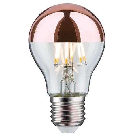 LED-pääpeililamppu E27 7,5W 827, kupari