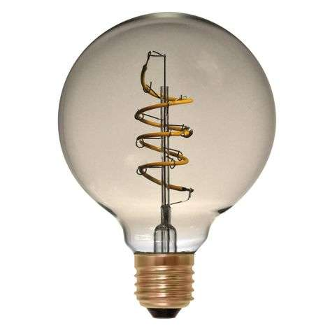 LED-pallo G95 E27 4W 922, pysty Curved Line