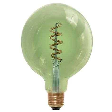 LED-pallolamppu E27 6W 920, savunvihreä
