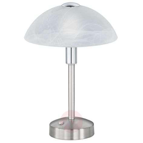 LED-pöytälamppu Donna 4-portaisella himmentimellä