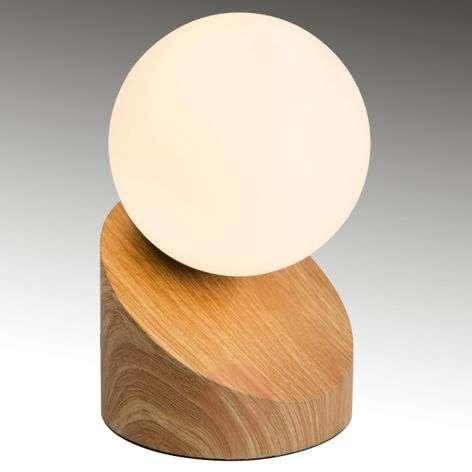 LED-pöytävalaisin Alisa puunvärisellä jalalla