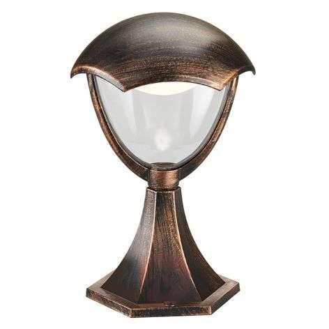 LED-pollarilamppu Gracht antiikin ruosteen väri