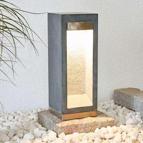 LED-pollarivalaisin Adejan, basalttikiveä, 40 cm