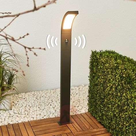 LED-pylväsvalaisin Juvia alumiinista sensorilla