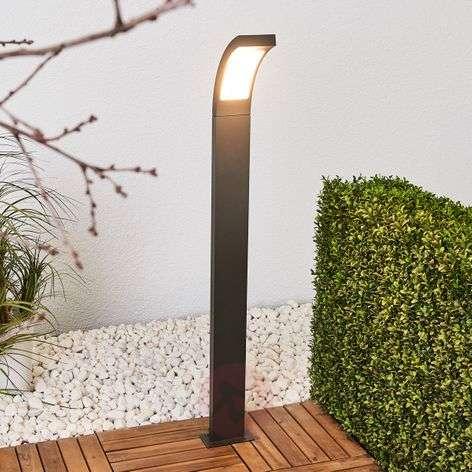 LED-pylväsvalaisin Juvia harmaasta alumiinista