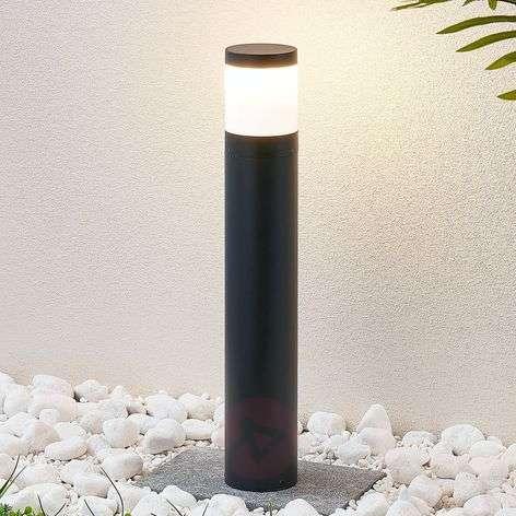 LED-pylväsvalaisin Nitalia, pyöreä, tummanharmaa