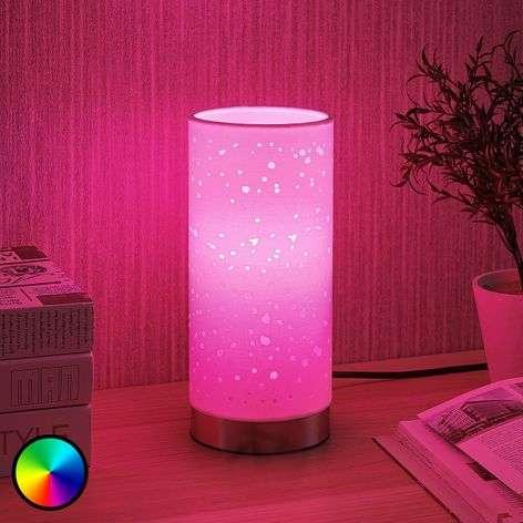 LED-RGB-pöytävalaisin Alwine, pistekuvio
