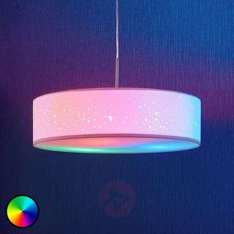 LED-RGB-riippuvalaisin Alwine, pistekuvio, pyöreä