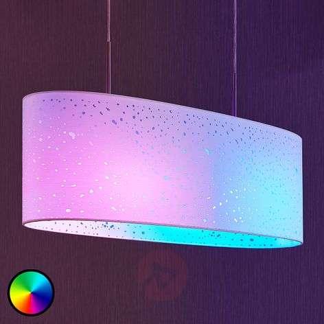 LED-RGB-riippuvalaisin Alwine, pistekuvio, soikea