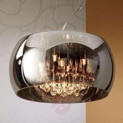 LED-riippulamppu Argos kristallipisaroilla