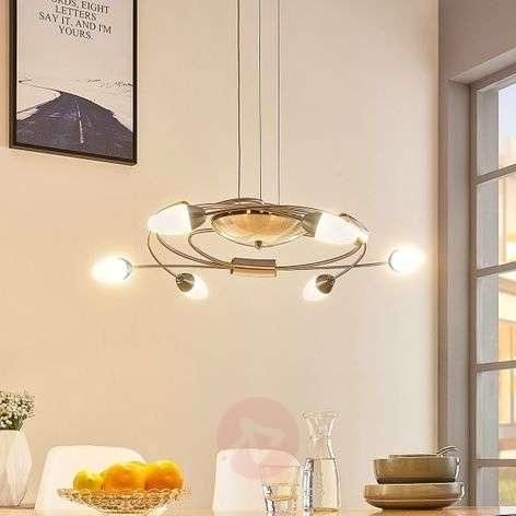LED-riippuvalaisin Deyan, himm. 6-lamppuinen