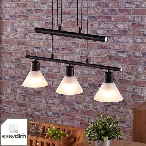 LED-riippuvalaisin Eleasa, easydim, 3-sarja, musta