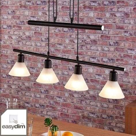 LED-riippuvalaisin Eleasa, easydim, 4-sarja, musta