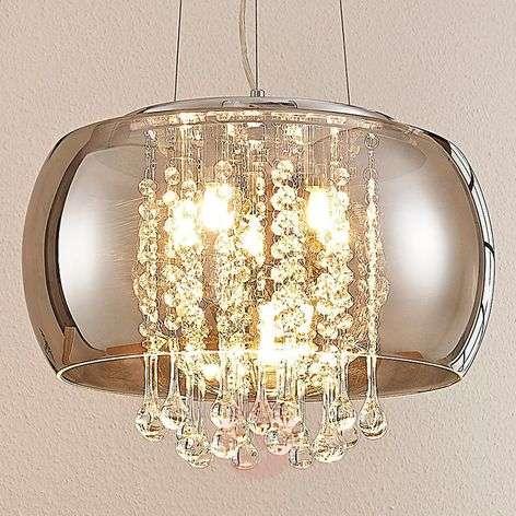 LED-riippuvalaisin Joani, savunharmaa lasi, 40 cm