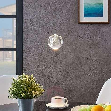 LED-riippuvalo Hayley lasipallo 1-lampp. kromi