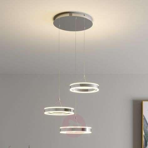 LED-riippuvalo Lyani, 3 rengasta, eri korkeuksia