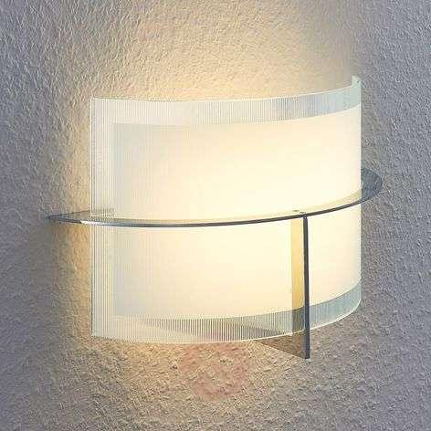 LED-seinävalaisin Jaryna lasista, kromirunko