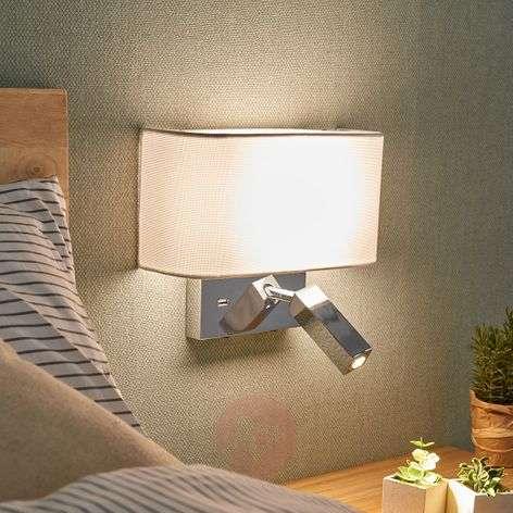 LED-seinävalaisin Virve, lukuvalo ja USB-portti