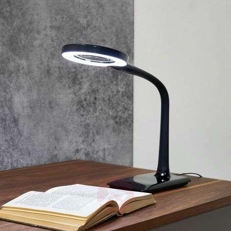 LED-suurennuslasivalaisin Lupo mustana
