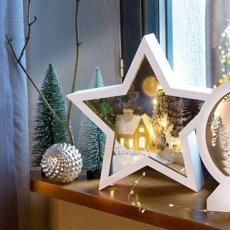 LED-tähti talvinen yö 3D