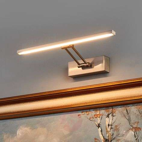 LED-tauluvalaisin Emilias, matta nikkeli, 35 cm