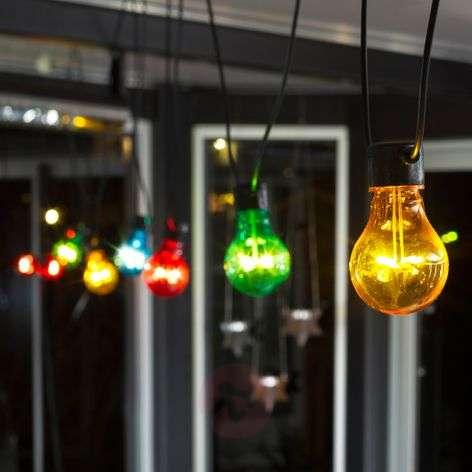 LED-terassivaloketju Biergarten Basis värikäs