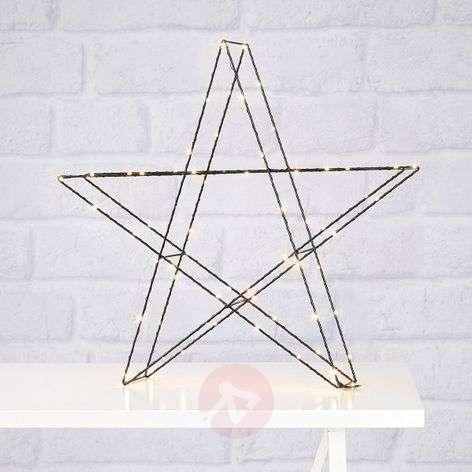 LED-ulkokoriste seisova tähti Mystic 70-lamppuinen