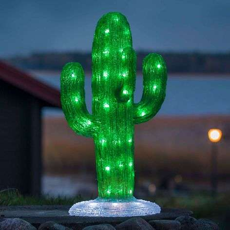 LED-ulkokoristevalaisin akryyli kaktus