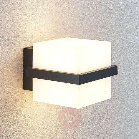 LED-ulkoseinälamppu Auron, kuution muotoinen