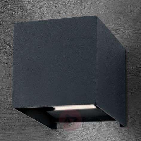 LED-ulkoseinälamppu Cube antrasiitti