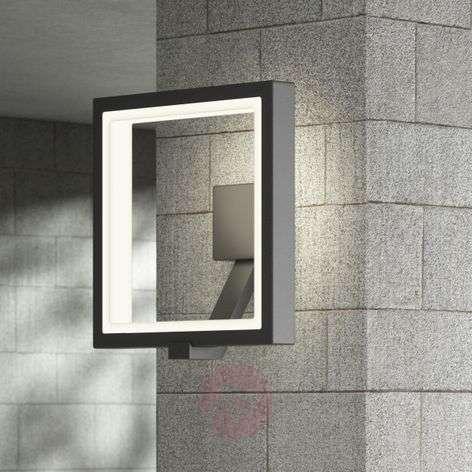 LED-ulkoseinälamppu Square, grafiitinharmaa