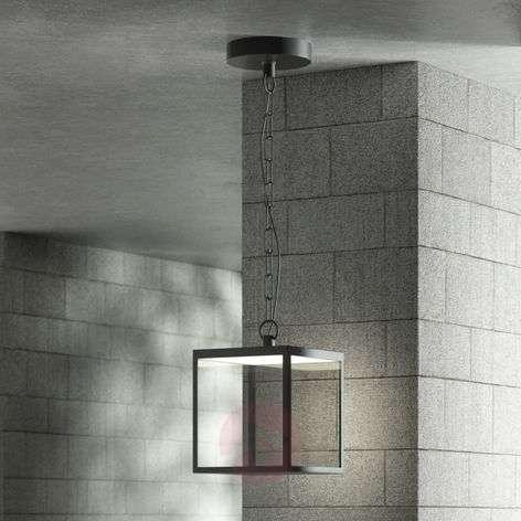 LED-ulkoseinävalaisin Cube lasivarjostimella 18 cm