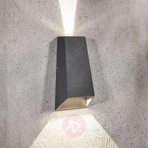LED-ulkoseinävalaisin Dagur, tummanharmaa