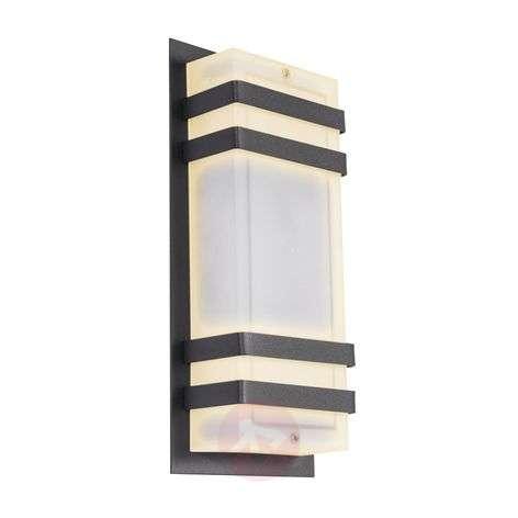 LED-ulkoseinävalo Paice kulmikas, valkoinen huurre