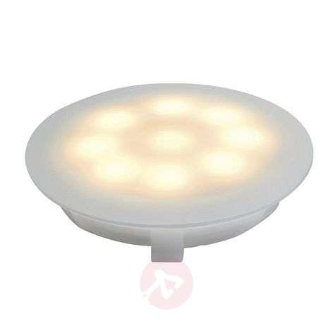 LED-uppokohdevalaisin satinoitu 1x1W lämmin valk.