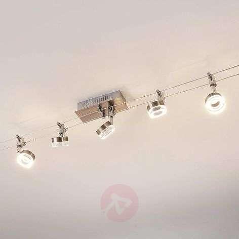 LED-vaijerijärjestelmä Enio 5 lampulla