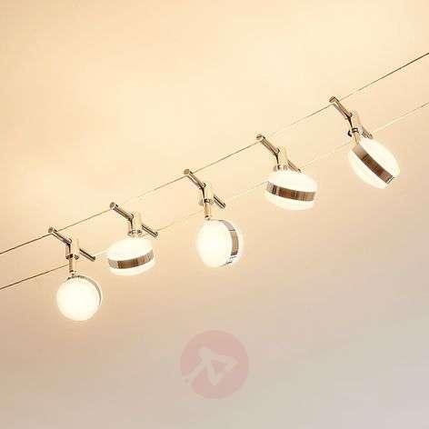 LED-vaijerijärjestelmä Ksenija, kromattu, 5-lamp.