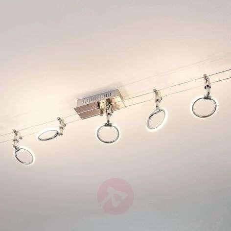 LED-vaijerijärjestelmä Ritol 5 valaisinpäällä