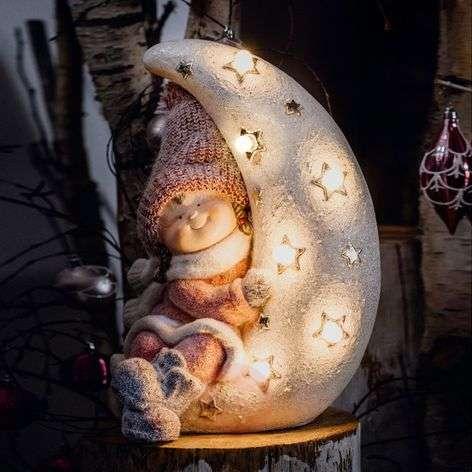 LED-valokuvio, tyttö kuussa, 6 tunnin ajastin