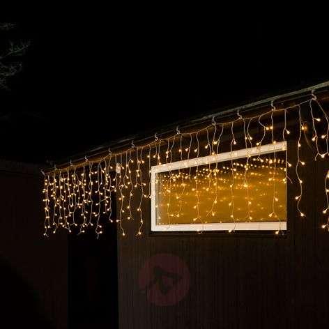LED-valoverho Jääsade lämmin valkoinen 5 m