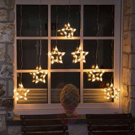 LED-valoverho tähdet 70 lamppua