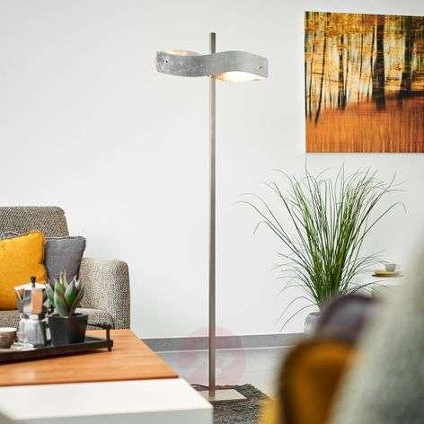 Lehtimetallipinnoitteinen LED-lattiavalaisin Lian