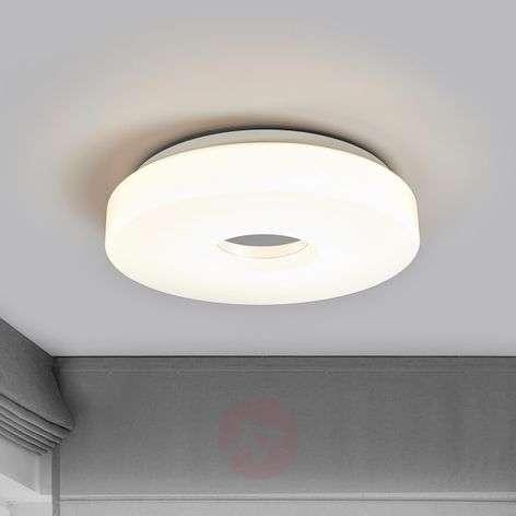 Levina-LED-kattolamppu kromikeskustalla