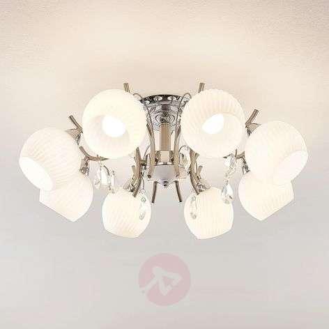 Lindby Feodora -kattovalaisin kromia, 8-lamppuinen