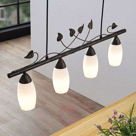 Lindby Isalie LED-tankoriippuvalaisin,4-lamppuinen