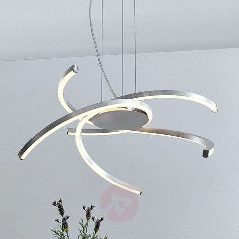 Lindby Katris LED-riippuvalaisin, 58 cm, alumiini